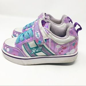 Heelys pink light up glitter sneakers girl 13